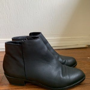 Black faux leather booties - Forever 21